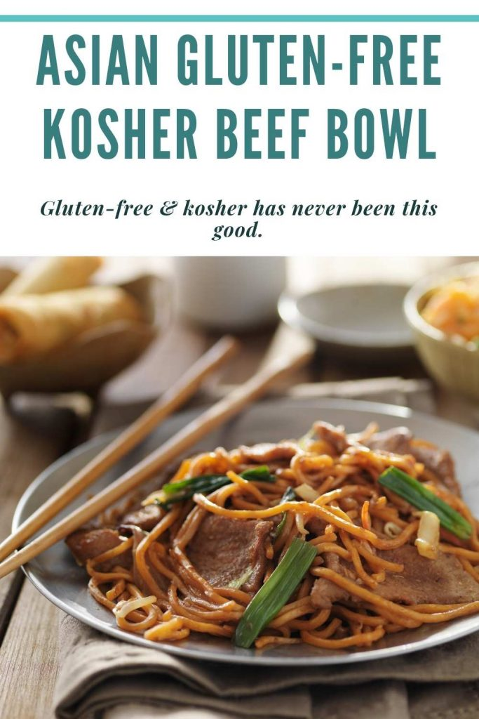 Asian Gluten-free kosher beef bowl Pinterest