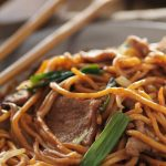 Asian Beef Noodle Dish