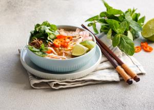 gluten free, kosher asian noodle bowl