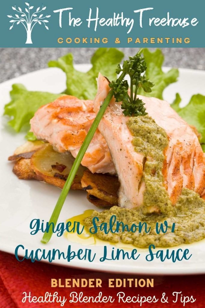 ginger salmon with cucumber lime sauce recipe