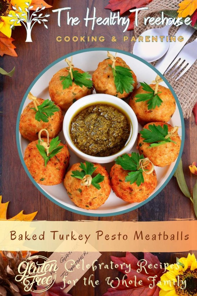 Baked Turkey Pesto Meatballs Recipe