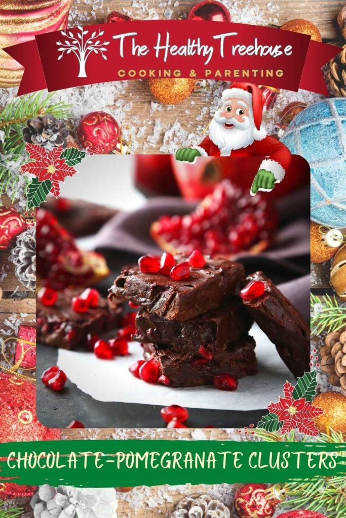 Chocolate Pomegranate Clusters