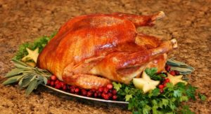 Perfect Herb-Roasted Turkey with No Sugar Added Cranberry Sauce Recipe