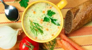 Healthy Slow Cooker and Blender Chicken Potato Soup Recipe