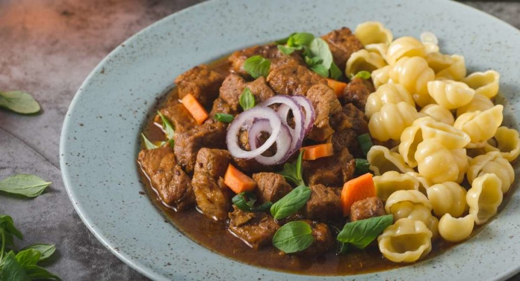 Slow Cooked Lamb Stew in Pappardelle Pasta Recipe