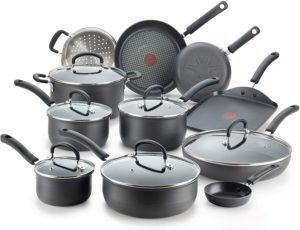 T-fal E765SH Ultimate Hard-Anodized Non-Stick 17-Piece Cookware Set